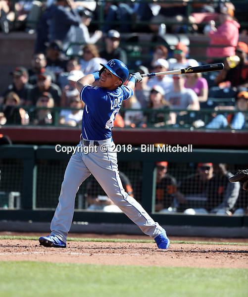 Nicky Lopez - Kansas City Royals 2018 spring training (Bill Mitchell)