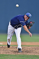 Asheville Tourists pitcher Daniel Palo #29 delivers a pitch during a game against the Kannapolis Intimidators at McCormick Field on June 7, 2014 in Asheville, North Carolina. The Tourists defeated the Intimidators 7-5. (Tony Farlow/Four Seam Images)