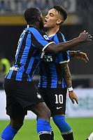 Romelu Lukaku of Internazionale and Lautaro Martinez of Internazionale celebrate after a goal <br /> Milano 26-10-2019 Stadio San Siro  <br /> Football Serie A 2019/2020 <br /> FC Internazionale - Parma  <br /> Photo Giuliano Marchisciano / Insidefoto