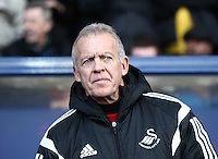 Alan Curtis caretaker manager of Swansea looks on  during the Emirates FA Cup 3rd Round between Oxford United v Swansea     played at Kassam Stadium  on 10th January 2016 in Oxford