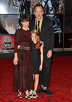 """Constance Zimmer, Russ Lamoureux & Colette Zoe Lamoureux at the world premiere for """"Star Wars: The Last Jedi"""" at the Shrine Auditorium. Los Angeles, USA 09 December  2017<br /> Picture: Paul Smith/Featureflash/SilverHub 0208 004 5359 sales@silverhubmedia.com"""