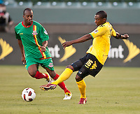 CARSON, CA – June 6, 2011: Jamaican Omar Cummings (16) during the match between Grenada and Jamaica at the Home Depot Center in Carson, California. Final score Jamaica 4 and Grenada 0.