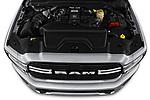Car stock 2019 Ram 3500 Big Horn 4 Door Pick Up engine high angle detail view