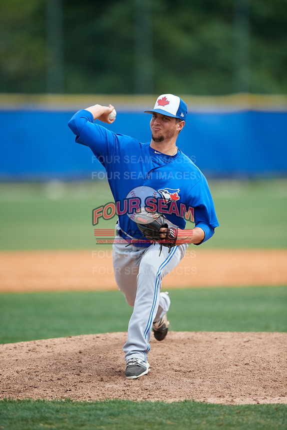 Toronto Blue Jays pitcher Andy Ravel (57) during a Minor League Spring Training Intrasquad game on March 31, 2018 at Englebert Complex in Dunedin, Florida.  (Mike Janes/Four Seam Images)