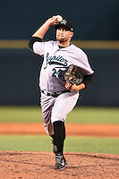 Jupiter Hammerheads pitcher Brad Mincey (22) delivers a pitch during a game against the Bradenton Marauders on June 25, 2014 at McKechnie Field in Bradenton, Florida.  Bradenton defeated Jupiter 11-0.  (Mike Janes/Four Seam Images)