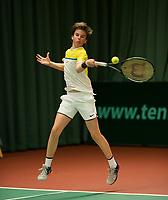 The Hague, The Netherlands, March 17, 2017,  De Rhijenhof, NOJK 14/18 years, Daan van Dijk (NED)<br /> Photo: Tennisimages/Henk Koster