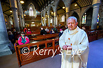 Fr Tadhg Fitzgerald prior to saying mass at Saint John's church in Tralee on Tuesday evening.