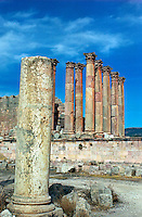 The Temple of Artemis in Jerash (The Ancient Gerasa)  Jordan. The Middle East