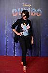 Silvia Abril attends to Dumbo premiere at Principe Pio Theatre in Madrid, Spain. March 27, 2019. (ALTERPHOTOS/A. Perez Meca)