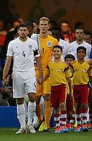 England Captain Steven Gerrard leads the team out