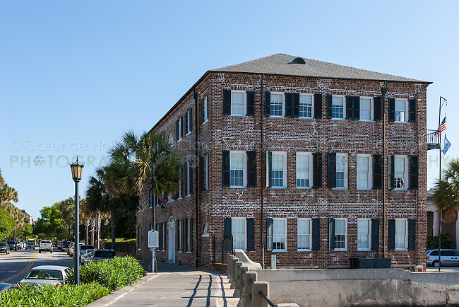 The Historic Charleston Foundation headquarters in the Captain James Missroon House on the battery in Charleston, South Carolina