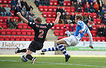 St Johnstone v St Mirren....06.10.12      SPL.Murray Davidson scores to make it 2-0.Picture by Graeme Hart..Copyright Perthshire Picture Agency.Tel: 01738 623350  Mobile: 07990 594431
