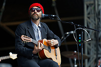 Pictured: Gruff Rhys performs on stage. Saturday 13 July 2019<br /> Re: Stereophonics live concert at the Singleton Park in Swansea, Wales, UK.