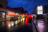 Cuba Street, Wellington CBD, at 7am during Level 4 lockdown for the COVID-19 pandemic in Wellington, New Zealand on Friday, 27 August 2021.
