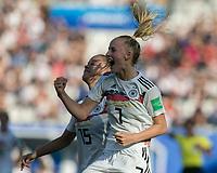 GRENOBLE, FRANCE - JUNE 22: Lea Schueller #7 goal celebration during a game between Panama and Guyana at Stade des Alpes on June 22, 2019 in Grenoble, France.