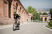 race preparations: Brent Bookwalter (USA/Mitchelton-Scott) checking the TT prologue course that ends with a (very) steep 2 km climb to the Sanctuary of San Luca (in Bologna), ahead of the 102nd Giro d'Italia 2019<br /> <br /> ©kramon