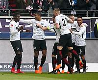 03.03.2018, Commerzbank - Arena, Frankfurt, GER, 1.FBL, Eintracht Frankfurt vs Hannover 96 , <br />Danny Da Costa (Frankfurt)   goal  1:0 *** Local Caption *** © pixathlon<br /> Contact: +49-40-22 63 02 60 , info@pixathlon.de