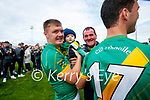 Seán Maunsell, Kilmoyley, and his Theo after the County Senior hurling Final between Kilmoyley and Saint Brendan's at Austin Stack park on Sunday.