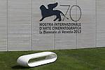 Logo of the 70th Venice Film Festival  in Venice.