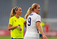 TOKYO, JAPAN - JULY 21: Lindsey Horan #9 of the USWNT stands on field during a game between Sweden and USWNT at Tokyo Stadium on July 21, 2021 in Tokyo, Japan.