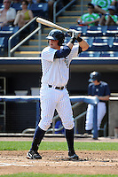 Staten Island Yankees infielder Saxon Butler (43) during game against the Aberdeen Ironbirds at Richmond County Bank Ballpark at St.George on July 18, 2012 in Staten Island, NY.  Staten Island defeated Aberdeen 3-2.  Tomasso DeRosa/Four Seam Images