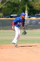 Yeiler Peguero participates in the International Prospect League Showcase at the New York Yankees academy in Boca Chica, Dominican Republic on January 24, 2014 (Bill Mitchell)
