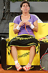 Carla Suarez Navarro, Spain, during Madrid Open Tennis 2016 match.May, 4, 2016.(ALTERPHOTOS/Acero)