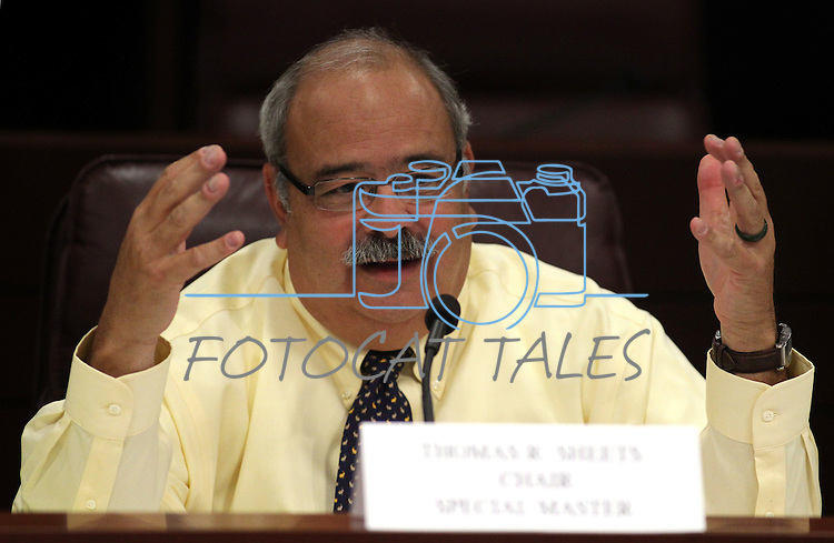 Special Master Chairman Tom Sheets speaks during a redistricting hearing at the Legislature in Carson City, NV. on Tuesday, Oct. 11, 2011..Photo by Cathleen Allison