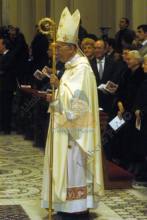 CARDINALE CAMILLO RUINI<br /> MESSA DI RINGRAZIAMENTO PER I 50 ANNI DI SACERDOZIO DEL CARDINAL CAMILLO RUINI - SAN GIOVANNI IN LATERANO ROMA 2004