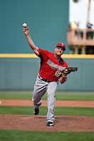Minnesota Twins pitcher Stephen Pryor (55) during a Spring Training game against the Pittsburgh Pirates on March 13, 2015 at McKechnie Field in Bradenton, Florida.  Minnesota defeated Pittsburgh 8-3.  (Mike Janes/Four Seam Images)