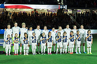 Orlando City, FL - Wednesday March 07, 2018: England starting eleven vs USWNT during a 2018 SheBelieves Cup match between the women's national teams of the United States (USA) and England (ENG) at Orlando City Stadium.