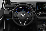 Car pictures of steering wheel view of a 2019 Toyota Corolla Style 5 Door Hatchback