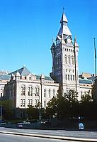 Buffalo: Old County Hall, 1871-76, 92 Franklin St.  Architect Andrew J. Warner. Photo '88.