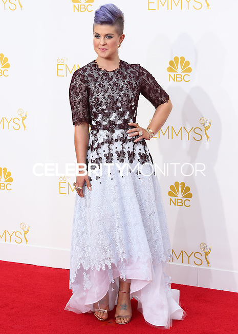 LOS ANGELES, CA, USA - AUGUST 25: Kelly Osbourne arrives at the 66th Annual Primetime Emmy Awards held at Nokia Theatre L.A. Live on August 25, 2014 in Los Angeles, California, United States. (Photo by Celebrity Monitor)