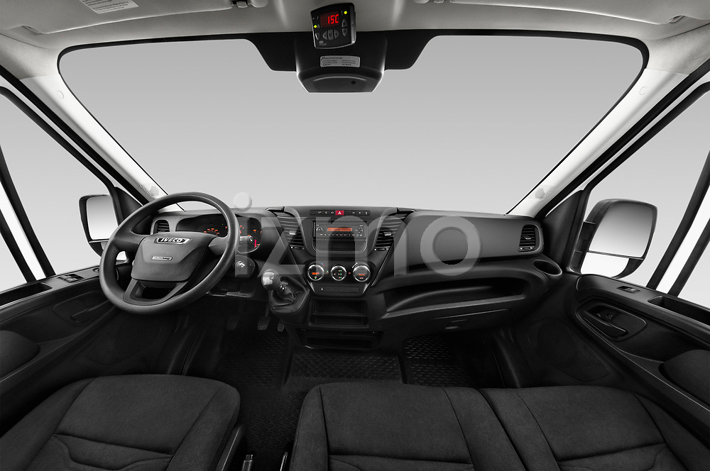 Stock photo of straight dashboard view of 2018 Iveco Daily 35S 4 Door Cargo Van Dashboard
