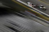 #18: Riley Herbst, Joe Gibbs Racing, Toyota Supra Monster Energy and #20: Christopher Bell, Joe Gibbs Racing, Toyota Supra Ruud
