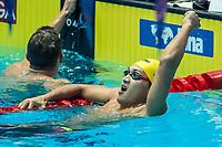 Jiayu Xu of China celebrates after winning the men's 100m backstoke final during 18th Fina World Championships Gwangju 2019 at Nambu University Municipal Aquatics Centre, Gwangju, on 23  July 2019, Korea.  Photo by : Ike Li / Prezz Images