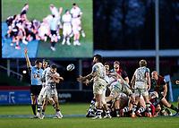 26th December 2020; Twickenham Stoop, London, England; English Premiership Rugby, Harlequins versus Bristol Bears; Harry Randall of Bristol Bears celebrating scrum success and awarded penalty