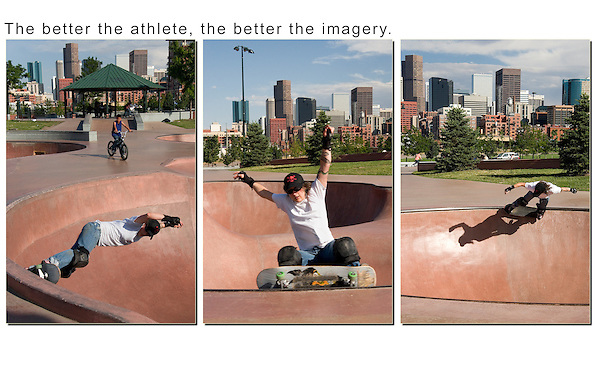 This photo assignment enlightened me. The only way to juxtapose the skateboarder and downtown Denver was to make a tight composition and let the subject pass through. Simple, but very effective. Colorado wildlife tours.
