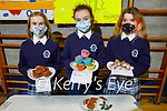 Lauren Coffey, Amy O'Sullivan and Aisling O'Neill holding their Back sale at the Presentation Castleislands annual school enterprise competition.