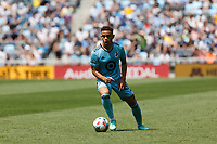ST PAUL, MN - JULY 18: Hassani Dotson #31 of Minnesota United FC with the ball during a game between Seattle Sounders FC and Minnesota United FC at Allianz Field on July 18, 2021 in St Paul, Minnesota.