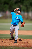 Miami Marlins pitcher Colton Hock (92) during a Minor League Spring Training Intrasquad game on March 28, 2019 at the Roger Dean Stadium Complex in Jupiter, Florida.  (Mike Janes/Four Seam Images)