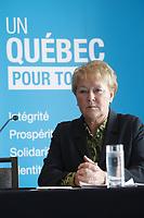 2013 File Photo  - Pauline Marois, Quebec Premier