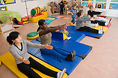Exercise session for parents and young children at the Newpin Nursery, Church Street ward.