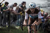 Stijn Vandenbergh (BEL/AG2R La Mondiale) up the Koppenberg <br /> <br /> 103rd Ronde van Vlaanderen 2019<br /> One day race from Antwerp to Oudenaarde (BEL/270km)<br /> <br /> ©kramon