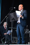 Cllr.Tom Mc Namara, Mayor of Clare,  speaking at the official opening of the All-Ireland Fleadh 2017 in Ennis. Photograph by John Kelly.