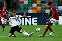 Maximilian Eggestein of Germany , Philip Billing of Denmark <br /> Udine 17-06-2019 Stadio Friuli <br /> Football UEFA Under 21 Championship Italy 2019<br /> Group Stage - Final Tournament Group A<br /> Germany - Denmark  <br /> Photo Cesare Purini / Insidefoto