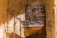 France, Bretagne, (29), Finistère, Brest:  Musée National de la Marine - Château de Brest - Le Marengo, Modèle votif aprés 1810