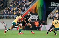 11th October 2020; Sky Stadium, Wellington, New Zealand;  New Zealand's Rieko Ioane. Bledisloe Cup rugby union test match between the New Zealand All Blacks and Australia Wallabies.