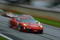 The #62 Risi Competizione Ferrari F430 GT of Jaime Melo, Mila Salo & Pierre Kaffer holds off the competition.